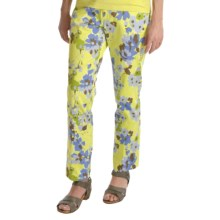 Tyler Boe Printed Ankle Pants - 5-Pocket, Stretch Cotton (For Women) in Sweet Pea - Closeouts