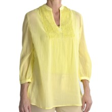 Tyler Boe Sequined Cotton Shirt - 3/4 Sleeve (For Women) in Sweet Pea - Closeouts