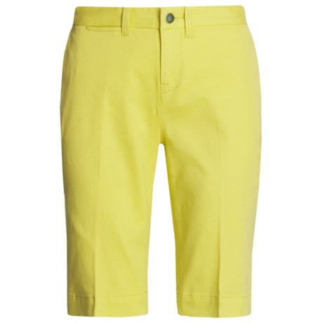 Tyler Boe Twill Shorts - Stretch Cotton (For Women) in Sweet Pea