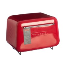 Typhoon Novo Vintage Inspired Steel Bread Storage Bin in Red - Closeouts