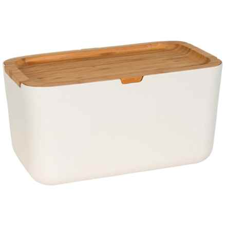 Typhoon Nubu Bread Storage Box with Bamboo Lid in Cream - Closeouts