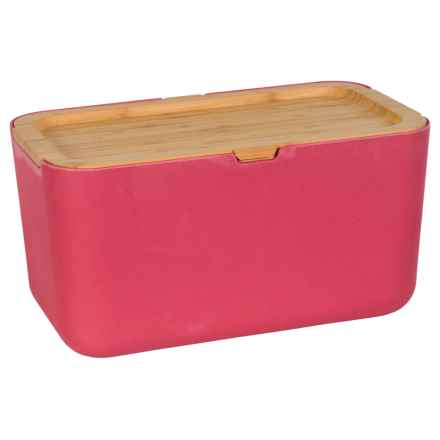 Typhoon Nubu Bread Storage Box with Bamboo Lid in Red - Closeouts