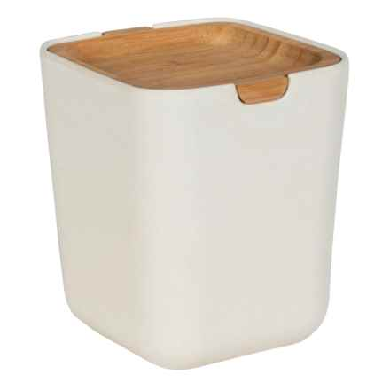 Typhoon Nubu Food Storage Container with Bamboo Lid - 22 oz. in Cream - Closeouts