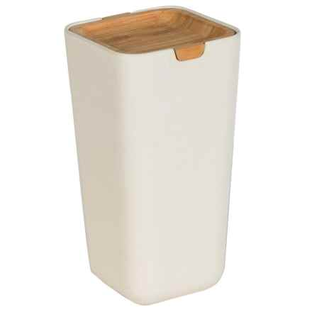 Typhoon Nubu Large Food Storage Container with Bamboo Lid - 35.5 oz. in Cream - Closeouts