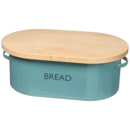 Typhoon Vintage Kitchen Bread Box - Cutting Board Top in Blue - Closeouts