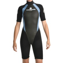 Typhoon XTS Vortex Shorty Wetsuit - 3mm (For Women) in Black/Light Blue - Closeouts