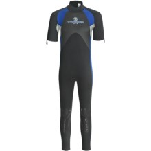 Typhoon XTS Vortex Wetsuit - 3mm, Short Sleeve (For Men) in Black/Blue/Silver - Closeouts