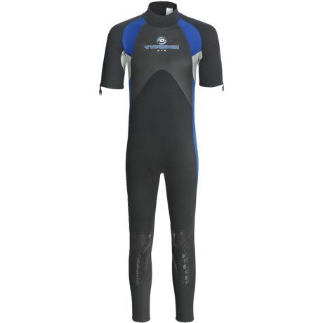 Typhoon XTS Vortex Wetsuit - 3mm, Short Sleeve (For Men) in Black/Blue/Silver
