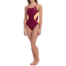 TYR Alliance Splice Diamondfit Swimsuit - UPF 50+ (For Women) in Burgundy/Gold - Closeouts
