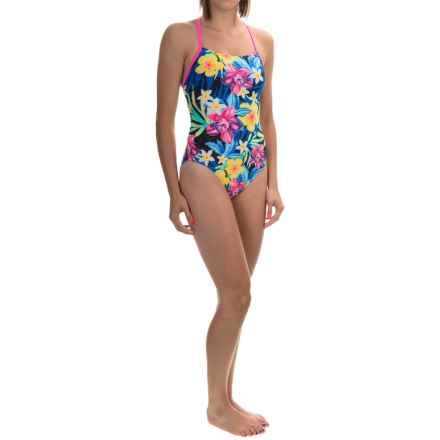 TYR Amazonia Crosscutfit Tieback Swimsuit - UPF 50+ (For Women) in Black/Multi - Closeouts