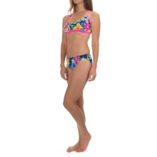 TYR Amazonia Crosscutfit Tieback Workout Bikini Set - UPF 50+ (For Women) in Black/Multi - Closeouts