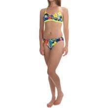 TYR Amazonia Crosscutfit Tieback Workout Bikini Set - UPF 50+ (For Women) in Royal Multi - Closeouts