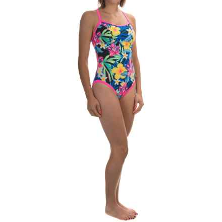 TYR Amazonia Reversible Diamondfit Swimsuit - UPF 50+ (For Women) in Black/Multi - Closeouts