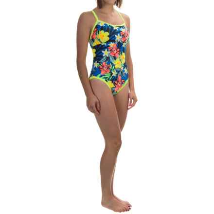 TYR Amazonia Reversible Diamondfit Swimsuit - UPF 50+ (For Women) in Royal Multi - Closeouts