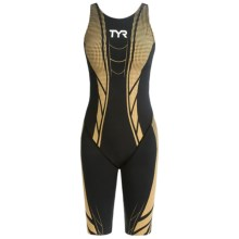 TYR AP12 Credere Compression Speed Suit - Open Back (For Women) in Black/Gold - Closeouts