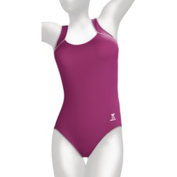 TYR Aquatic One-Piece Swimsuit - Square Neck (For Women) in Cabernet