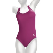 TYR Aquatic Square Neck Swimsuit - 1-Piece (For Women) in Cabernet - Overstock