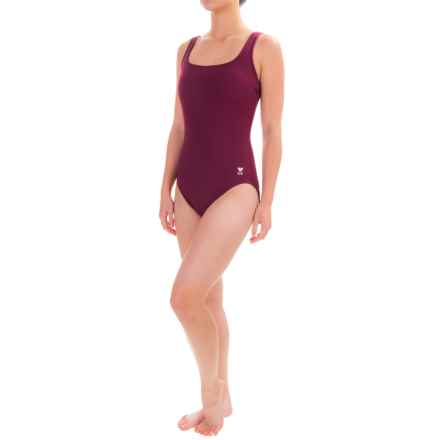 TYR Aquatic Tank Swimsuit - 1-Piece (For Women) in Burgundy - Closeouts