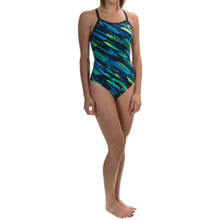 TYR Ardent Diamondfit Swimsuit - UPF 50+ (For Women) in Blue/Green - Closeouts
