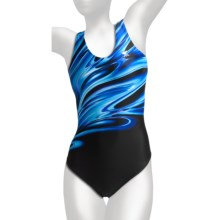 TYR Aurora Competition Swimsuit - Max Back, 1-Piece (For Women) in Blue - Closeouts