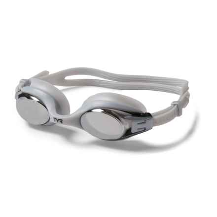 TYR Big Swimple Swim Goggles (For Men and Women) in Metallic Silver - Closeouts