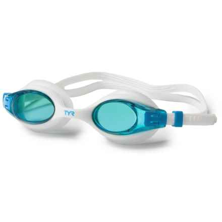 TYR Big Swimple Swim Goggles (For Men and Women) in White - Closeouts