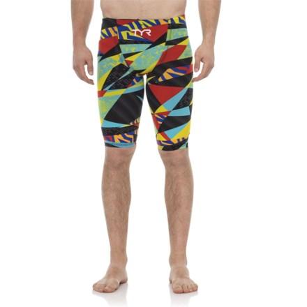 55f8bc6e5f09a TYR Black Multi Avictor Prelude High Short Jammer Swimsuit (For Men) in  Black