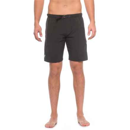TYR Break Trail Swim Shorts - UPF 50+, Built-In Brief (For Men) in Black - Closeouts