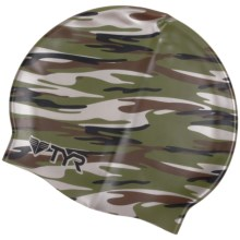TYR Camo Swim Cap (For Men and Women) in Green - Closeouts