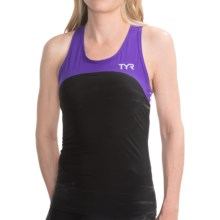 TYR Carbon Tank Top - UPF 50 (For Women) in Black/Purple - Closeouts