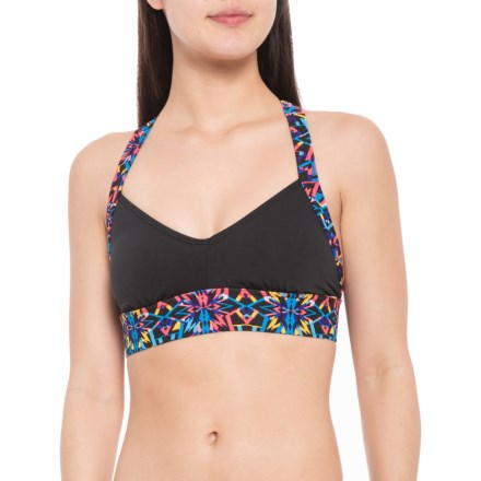 d871974454 TYR Carnivale Isla Sporty Bikini Top - UPF 50+ (For Women) in Black
