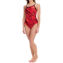 TYR Contact Diamondfit Swimsuit - UPF 50+ (For Women) in Red - Closeouts