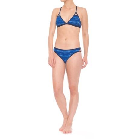 TYR Cross-Back Bikini Set - UPF 50+ (For Women) in Blue Multi