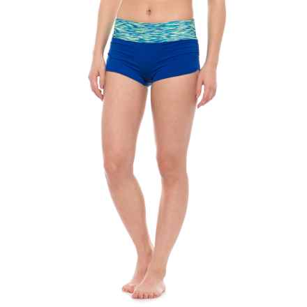 TYR Della Swim Boy-Short Bottoms - UPF 50+ (For Women) in Royal Space Dye - Closeouts