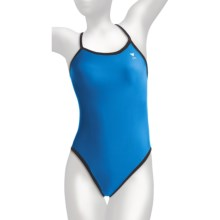 TYR Diamondback Swimsuit - 1-Piece, Reversible (For Women) in Black/Blue - Closeouts