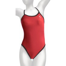 TYR Diamondback Swimsuit - 1-Piece, Reversible (For Women) in Bright Red/Black - Closeouts