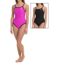 TYR Diamondfit Swimsuit - Reversible, UPF 50+ (For Women) in Pink/Black - Closeouts