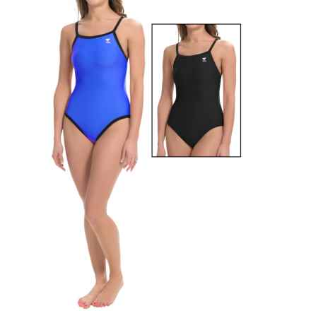 TYR Diamondfit Swimsuit - Reversible, UPF 50+ (For Women) in Royal/Black - Closeouts