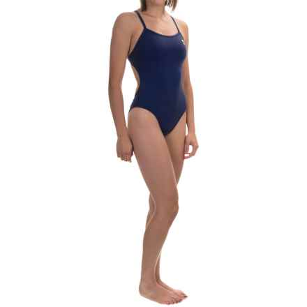 TYR Durafast Elite Solid Thin-X Fit Swimsuit - UPF 50+ (For Women) in Navy - Closeouts