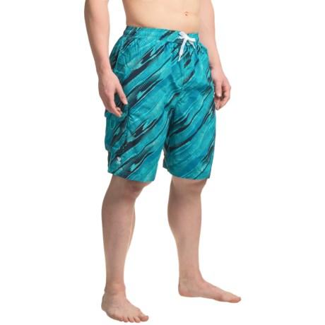 TYR Easy Rider Challenger Swim Trunks (For Men) in Blue/Turquoise