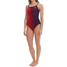 TYR Echelon Diamondfit Swimsuit - UPF 50+ (For Women) in Navy/Red - Closeouts