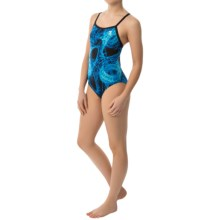 TYR Firestorm Diamondfit Swimsuit - UPF 50+ (For Women) in Blue - Closeouts