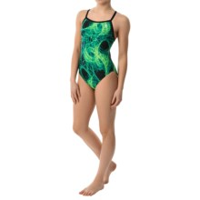 TYR Firestorm Diamondfit Swimsuit - UPF 50+ (For Women) in Green - Closeouts