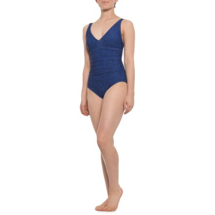 c819d99f0bb7cd TYR Fitness Mantra V-Neck Controlfit One-Piece Swimsuit - UPF 50+ (