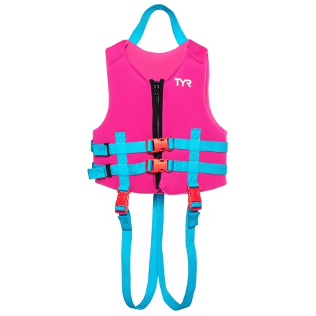 TYR Front Buckle Life Jacket - USCG-Approved (For Kids ) in Pink