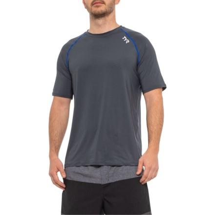 0fe3b9a925 TYR Grey Rash Guard - UPF 50+, Short Sleeve (For Men) in