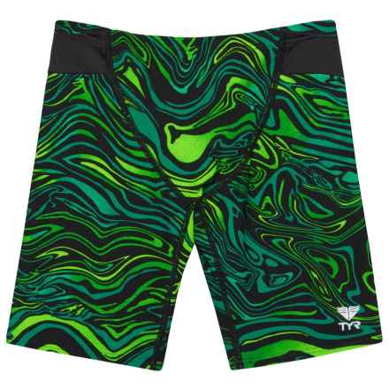 TYR Heatwave Jammer Swimsuit - UPF 50+ (For Boys) in Green/Black - Closeouts