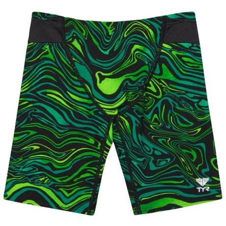 TYR Heatwave Jammer Swimsuit - UPF 50+ (For Boys) in Green/Black