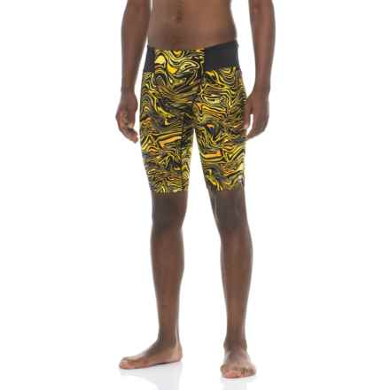 TYR Heatwave Jammer Swimsuit - UPF 50+ (For Men) in Black/Gold - Closeouts