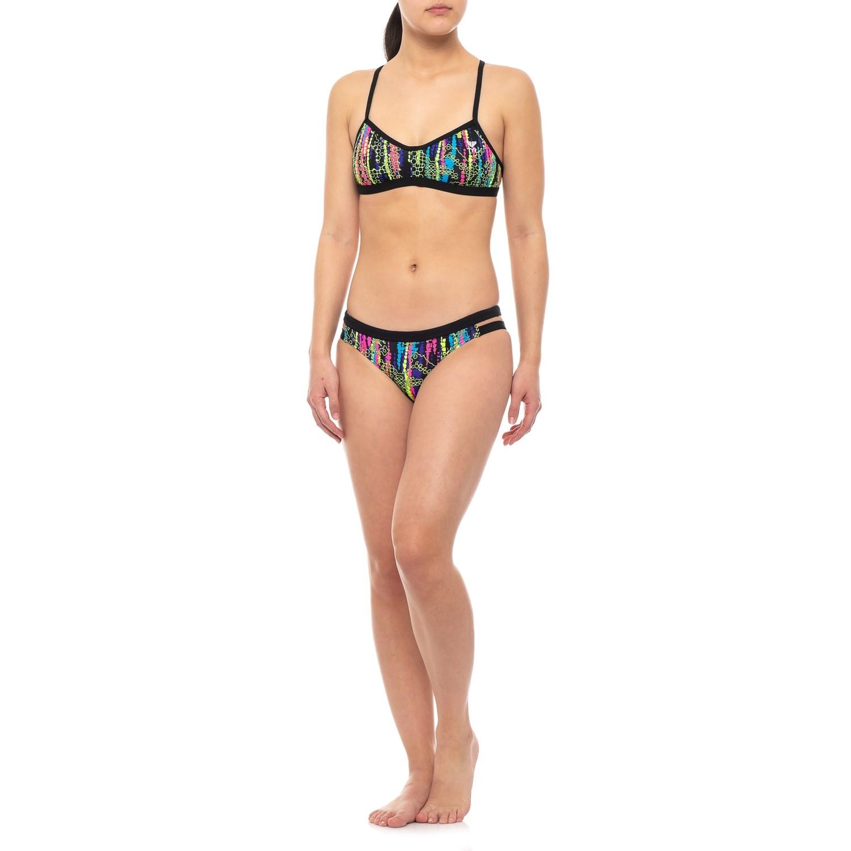 2a369e63486 TYR Hiromi Mojave Bikini Top and Cove Mini Bikini Bottom Set - UPF 50+ ...
